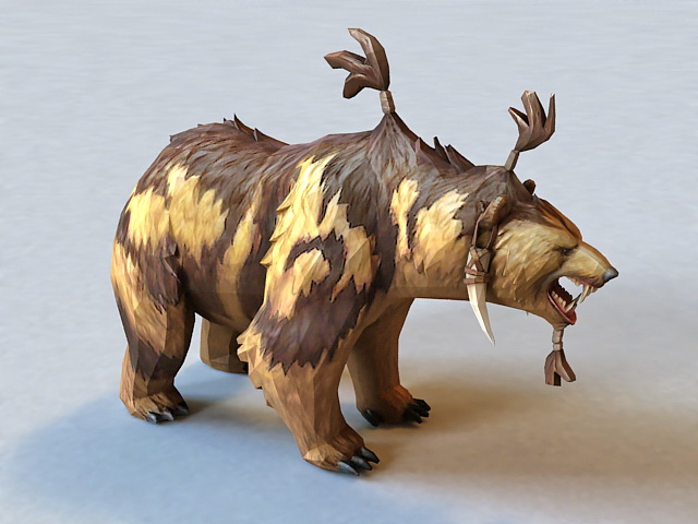 Dota 2 Lone Druid Bear 3d model