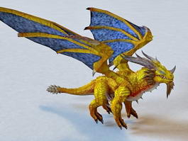 Yellow Dragon 3d model