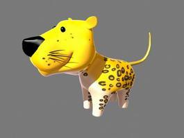 Cartoon Baby Leopard 3d model