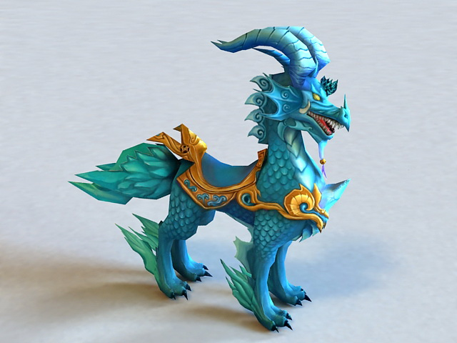 Mythical Creature Qilin 3d model