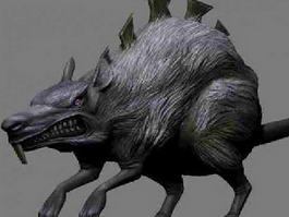 Giant Mouse Monster 3d model