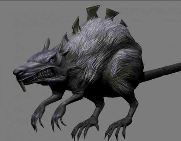 Giant Mouse Monster 3d model