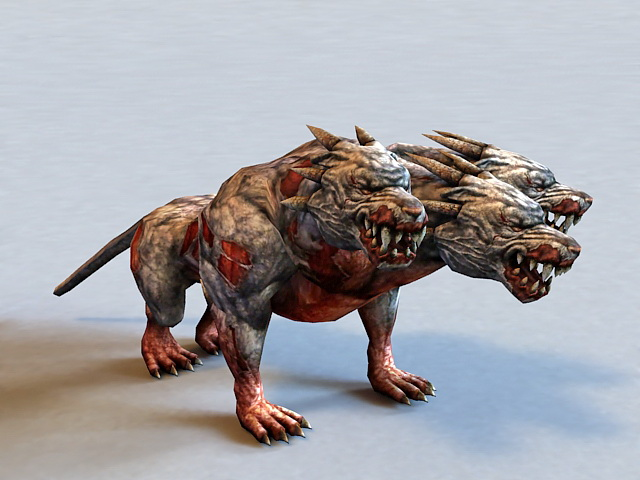 Zombie Cerberus 3d model