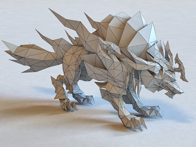 Mythical Wolf 3d Model 3ds Max Files Free Download