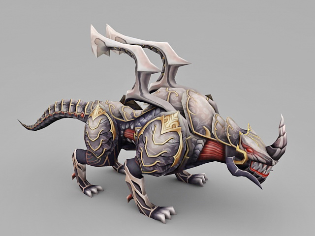 Monster Alien Rhinoceros 3d model