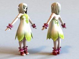 Cute Emo Anime Girl 3d model