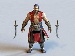 Strong Male Warrior 3d model