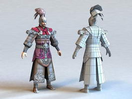 Ancient Chinese Warrior 3d model