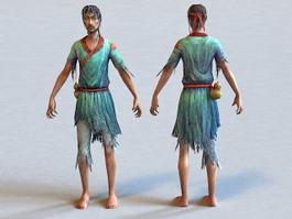 Ancient Beggar Man 3d model