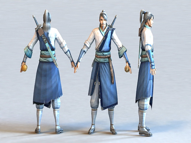 Chinese Swordsman 3d model