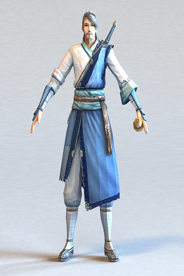 Chinese Swordsman 3d Model 3ds Max Files Free Download