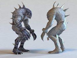 Zombie Monster Creature 3d model