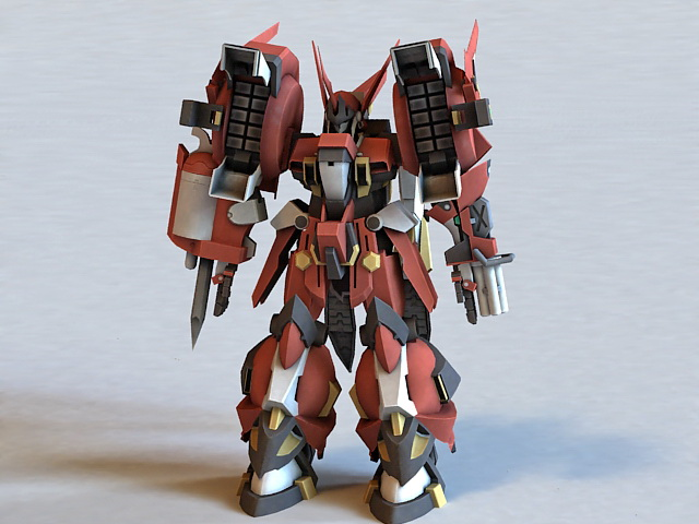 Super Robot Wars: PTX-003C Alteisen Rigged 3d model
