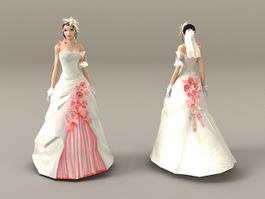 Beautiful Bride 3d model