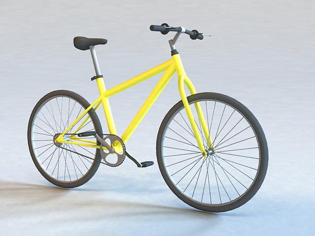 Hybrid Road Bike 3d model