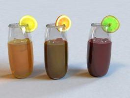Juice Glass 3d model