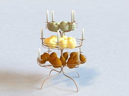 Fruit Basket Candlestick 3d model