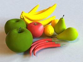 Fruits & Vegetables 3d model