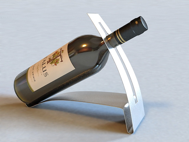 Wine Bottle Holder 3d model