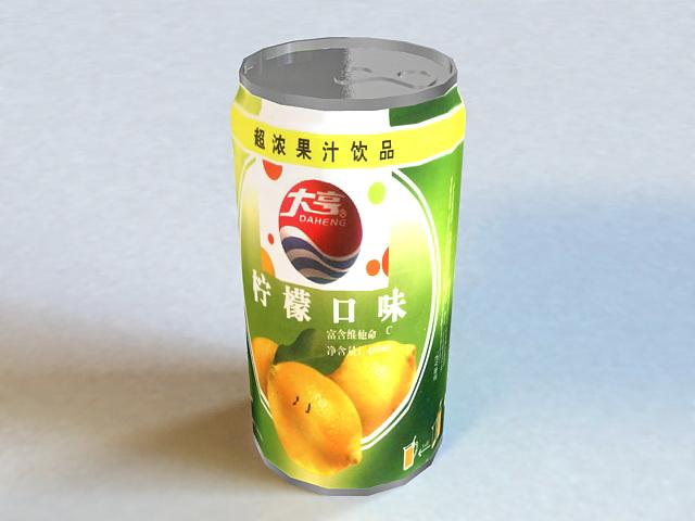 Canned Juice 3d model