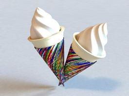 Ice Cream Cone 3d model