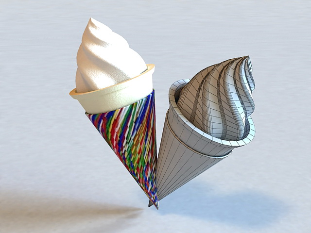 Ice Cream Cone 3d Model 3ds Max Files Free Download