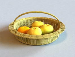 Apples in Basket 3d model