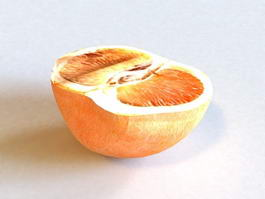 Half Grapefruit 3d model
