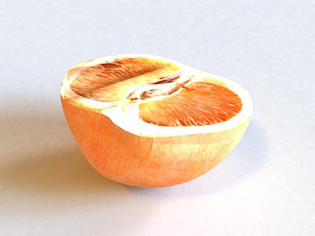 Half Grapefruit 3d model