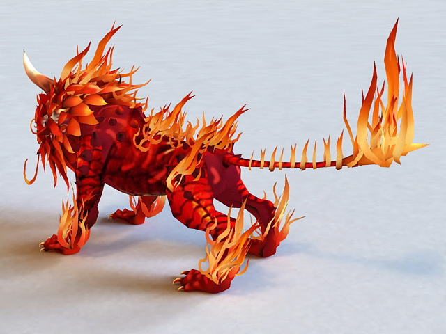 Fire Lion 3d Model 3ds Max Files Free Download Modeling
