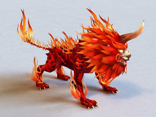 Fire Lion 3d model