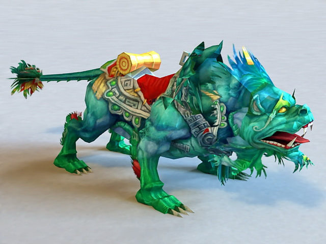 Mythical Chinese Creature Beast 3d model