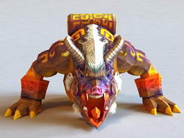Chinese Mythical Taotie Monster 3d model