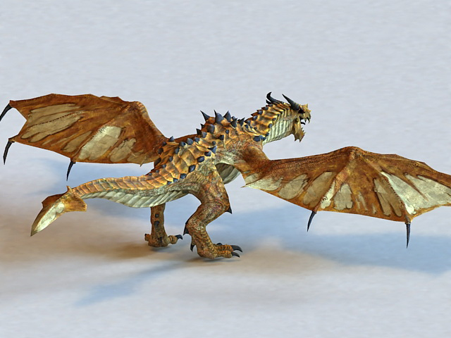 Brown Dragon 3d model