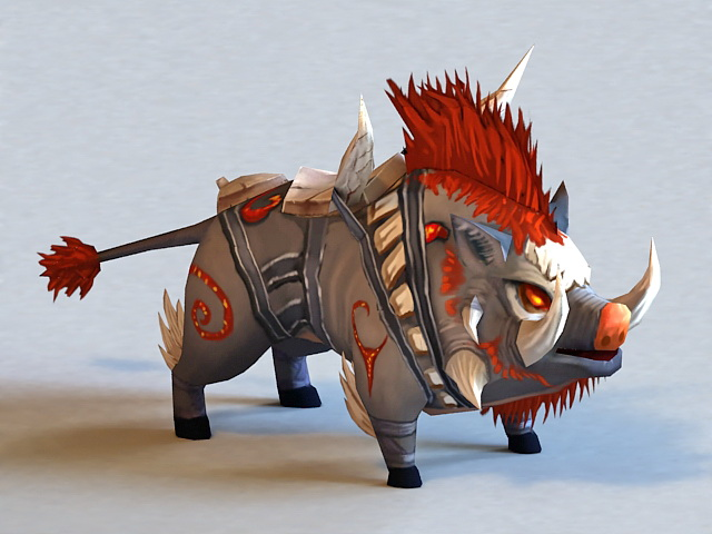 Mythical Wild Boar 3d model