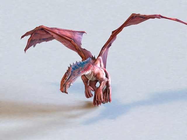Red Dragon Animated & Rigged 3d model