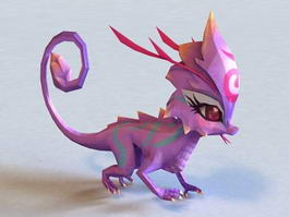 Anime Lizard 3d model