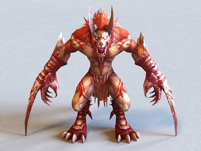 Demon Werewolf 3d Model 3ds Max Files Free Download