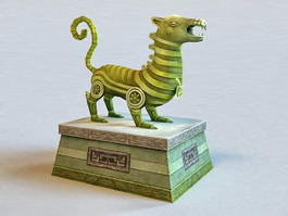 Mythical Creatures Statue 3d model