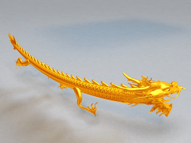Chinese Dragon Animation 3d model
