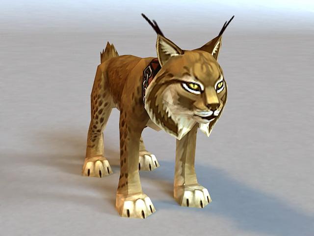 Leopard Cat Rigged 3d model