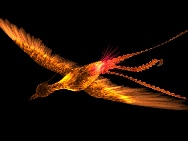 Phoenix Bird Animated & Rigged 3d model
