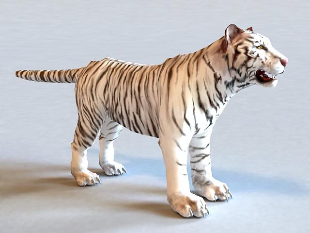 White Tiger 3d model