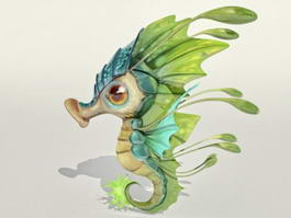 Cartoon Seahorse 3d model