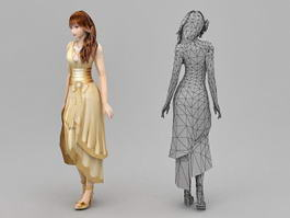 Girl Formal Dresses 3d model