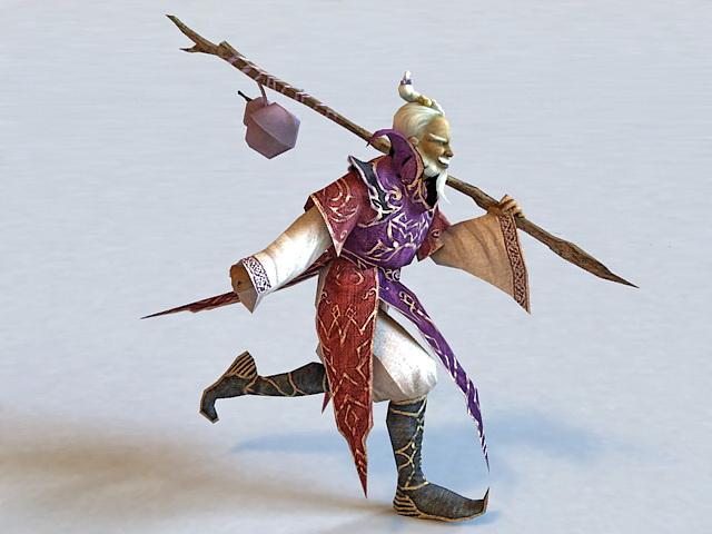 Taoist Monk 3d model