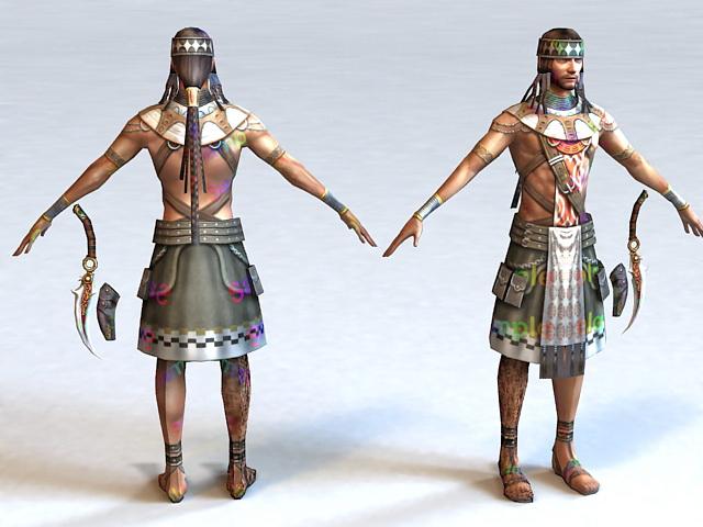 Indian Warrior 3d model