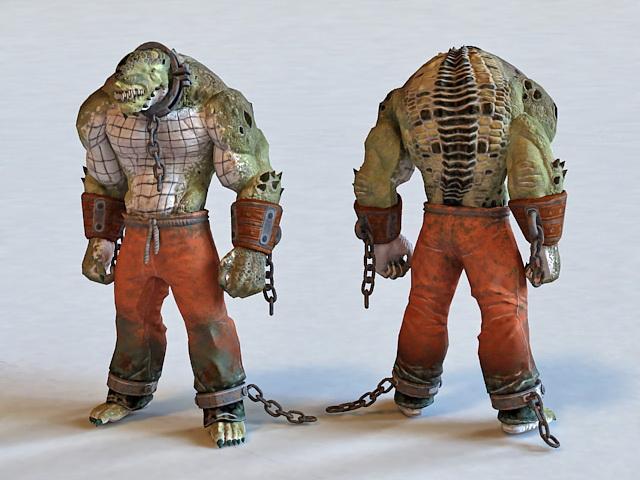 Killer Croc Concept 3d model