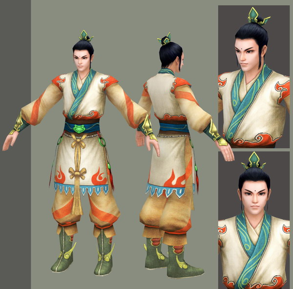 Beautiful Ancient Chinese Man 3d model