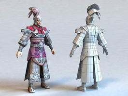 Chinese General Dynasty Warrior 3d model